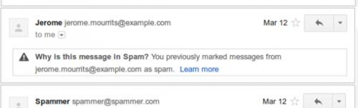 Gmail passará a explicar o motivo de ter considerado e-mails como spam