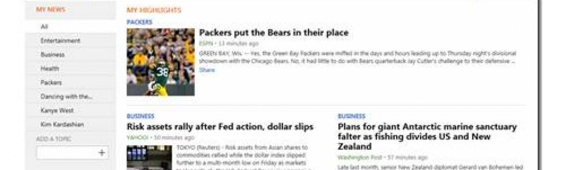 Bing leva notícias para o Facebook