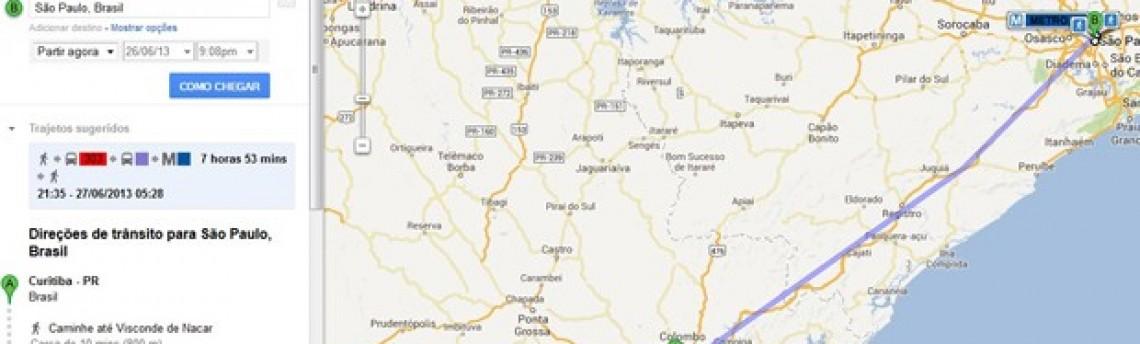 Google Maps inclui rotas de ônibus interestaduais para trajetos no Brasil