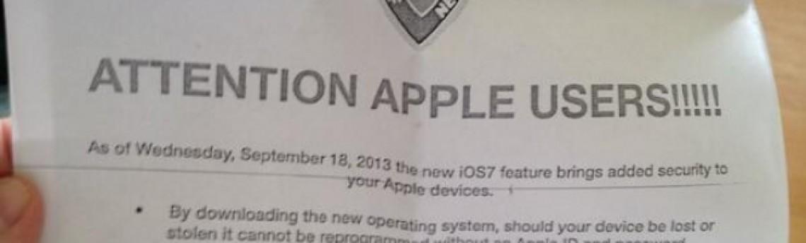 Polícia de NY pede a donos de iPad e iPhone que atualizem para o iOS 7