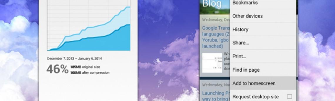 Chrome para Android e iOS comprime páginas da web para economizar sua franquia de dados