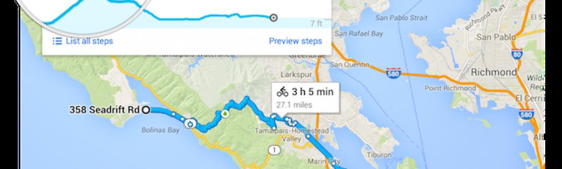 Google Maps agora ajuda ciclistas a evitarem ladeiras