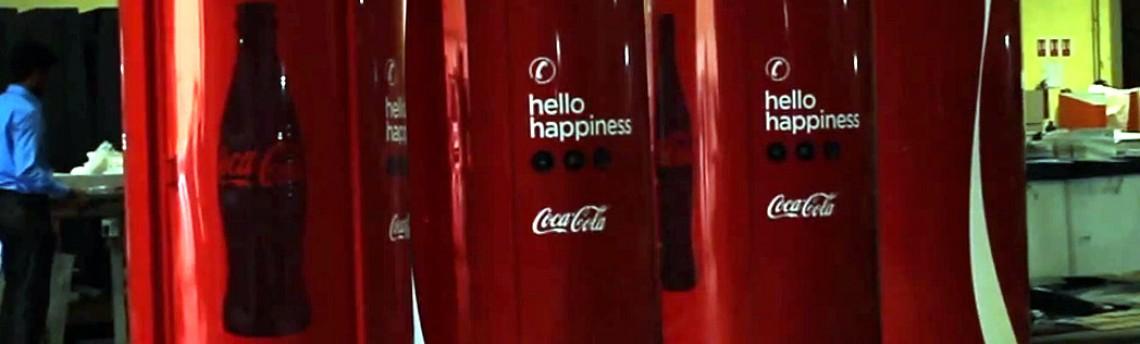 A ligação da felicidade da Coca-Cola