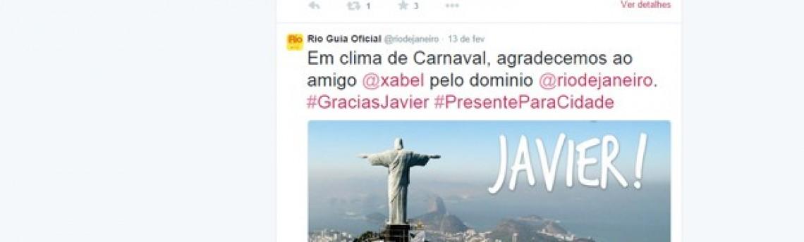 Engraxate espanhol presenteia o Rio com conta no Twitter
