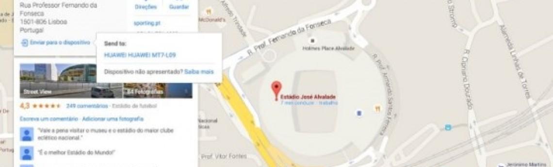 Google Maps Permite Enviar Trajetos Para o Android